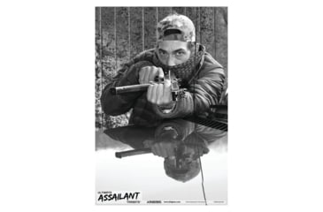 Blackheart Ultimate Assailant Targets Auto Barricade Rifle Measures 23x35 Inches 25 Per Pack