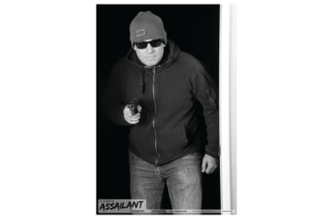 Blackheart Ultimate Assailant Targets Home Invasion Pistol 1 Measures 23x35 Inches 25 Per Pack