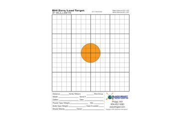 Blackheart Zero/Load Targets 2 Inch Color Bullseye Measures 8.5x11 Inches 25 Pack