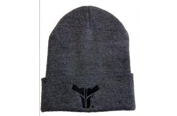 Blade Tech FoldOver Bull Beanie Hat,Gray w/ Black Logo APPX0082BTBNLGGRYBLK