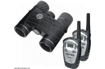 1-Tasco World Class 10x25 Waterproof Binoculars WC1025 + Two FRS 2-Way Radios