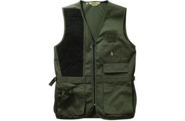Bob Allen 240S Solid Shooting Vest -  Sage, Left Hand, Extra Large - 30186