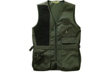 Bob Allen 240S Solid Shooting Vest -  Sage, Right Hand, Extra Large - 30192