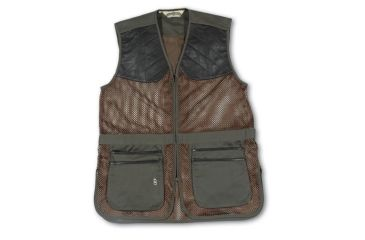 Bob Allen 290M Shooting Vest - Full Mesh Dual Leather Pads  290M-29505