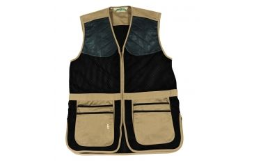 Bob Allen 290M Shooting Vest - Full Mesh Dual Leather Pads KHAKI XXXXL