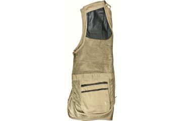 Bob Allen 290M Shooting Vest - Full Mesh Dual Leather Pads KHAKI L