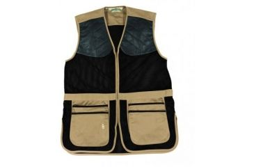 Bob Allen 290M Shooting Vest - Full Mesh Dual Leather Pads KHAKI XXXL