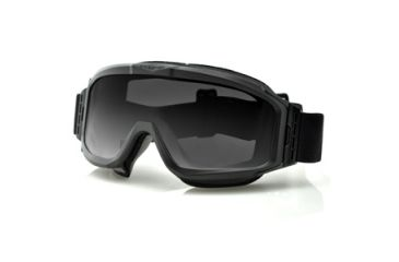 Bobster Alpha Interchangeable Goggles, Black Frame, Smoke & Clear Lenses BALP101