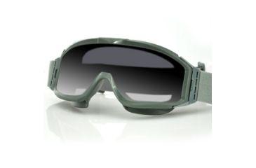 Bobster Alpha Interchangeable Goggles, Green Frame, Smoke & Clear Lenses BALP101G