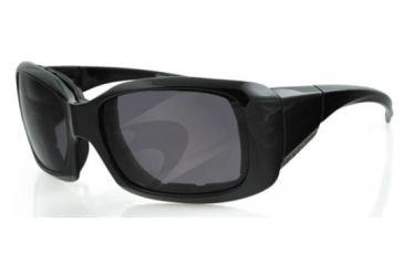 Bobster AVA Sunglasses - Black Frame, Anti-Fog Smoked Lens BAVA101