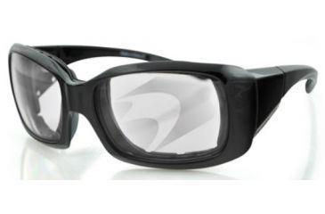 Bobster AVA Sunglasses - Black Frame, Anti-Fog Photochromic Lens BAVA102