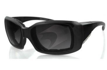 Bobster AVA Sunglasses - Black Frame, Smoked Polarized Lens BAVA103