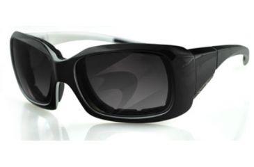 Bobster AVA Sunglasses - Black/Pearl Frame, Anti-Fog Smoked Lens BAVA501