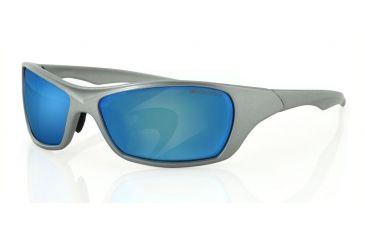 Bobster Bolt Sunglasses, Silver Frame, Blue Mirror Anti-fog smoked EBOL002S