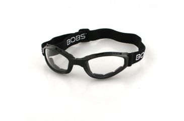 Bobster Folding Goggles Crossfire with Black frame, Clear lenses BCR002