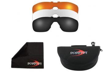 Bobster Enforcer Sunglasses, Black Frame w/ Smoke, Amber, and Clear Lenes