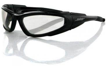 Bobster Low Rider Sunglass, Black Frame, Clear Lenses, ELR001C