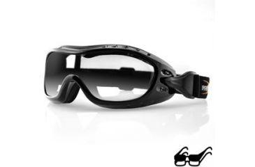 d748705c6a Bobster Nighthawk Goggles - Black Frame w Anti Fog Clear Lens BHAWK01C
