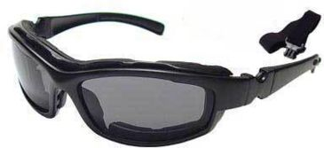 Bobster Road Hog Action Bifocal RX Prescription Lenses Eyewear Goggles-Sunglasses Convertible System (Black Frame)