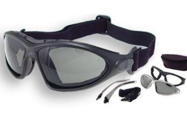 Bobster Road Master Goggles - Sunglasses with Black Frame, RX Prescription Lenses