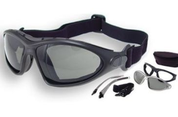 Bobster Road Master Photochromic Goggles - Sunglasses with Black Frame BDG001