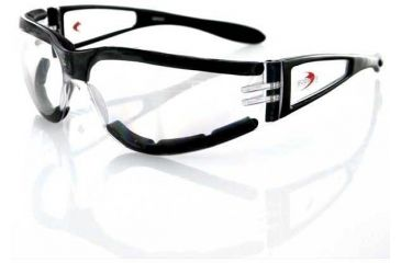 Bobster Shield II Sunglass, Black Frame, Clear Lens, ESH203