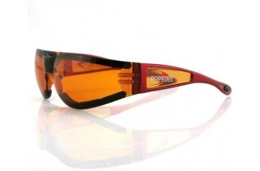 Bobster Shield2 Sun glass, Red Frame, Amber Lens, ESH223