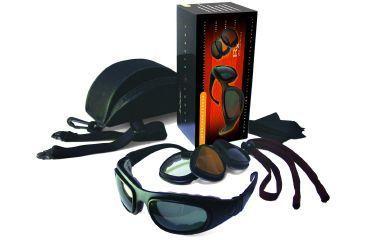 Bobster Sport & Street 2 Convertible Goggles - Black Frame w/ 3 Lens Set BSSA201AC