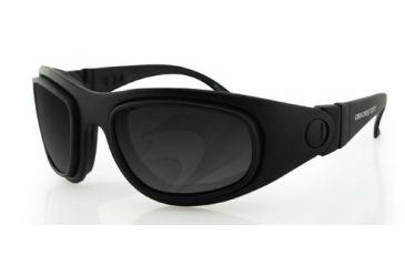 1-Bobster Sport & Street Interchangeable RX Prescription Lenses Black Frame Convertible Goggles - Sunglasses