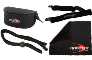 Bobster Eyewear Accessories: GX Strap, Sunglass Leash, Large Goggle Carry Case and Sunglass Cleaning Cloth