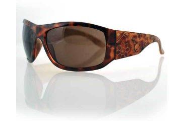 Bobster Vixen Highway Tortoise Shell Frame,Smoke Lens,Laser Paisley Gold Temple EHHV3