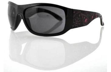 Bobster Vixen Highway Honey,Black Frame,Smoke Lens,Laser Paisley Purple Temple EHHV2