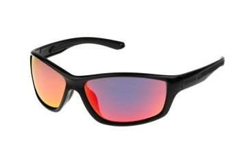 533fd6251d Body Glove FL 25 Sunglasses, Black Frame, Smoke Polarized with Red Mirror  Flash Lens