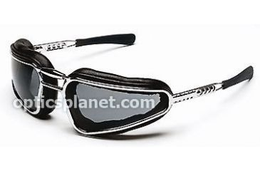 Body Specs Baruffaldi Storm Rider Sunglasses with Metal Chrome Frame, Grey and Clear Lens - STORM-RIDER