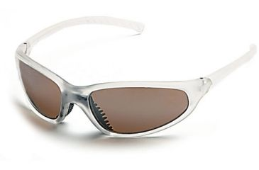 Body Specs Blaze Sunglasses w/ Crystal Matte Frame and Brown Flash Mirror Lenses
