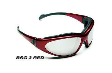Body Specs BSG-3 Interchangeable Lens Sunglasses/ Goggles w/ 3 Lens Set, Burgundy Frame