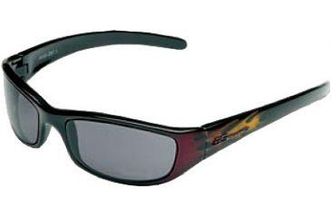 Body Specs Crazy 8's Sunglasses w/ Smoke Lenses  Dark Red Flames