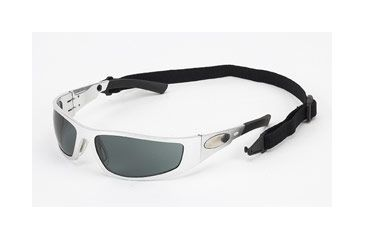 Body Specs Looper Sunglasses Aluminum Chrome Metal Frame with Smoke Lens LOOPER