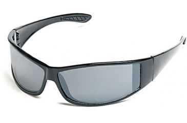 Body Specs Outlaw Sunglasses w/ Black / Red Flames Frame and Smoke Flash Mirror Lenses
