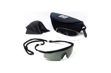 Body Specs Pistol Pro Black Frame Sunglasses Smoke and Clear Lens