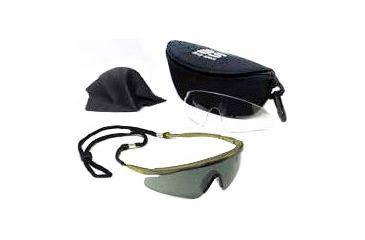 Body Specs Sunglasses Pistols Tan Frame Smoke Lens Pistol Pkg Tan