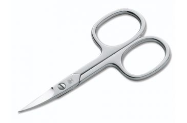 Boker USA Arbolito Nickel Plated Nail Scissors, Curved, 3 1/2in 04BO004