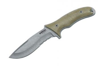 Boker USA Orca Gen 2 Outdoor Fixed Blade Tactical Knife, Serrated Blade, Micarta Handle w/ Sheath 120595