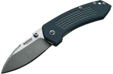 Boker USA Solo II Folding Knife,3in N690Bo Steel Blade,Cnc Machined Aluminum Handle 110634