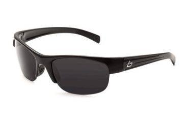 Bolle Aero Sun Glasses, Shiny Black Frame, Polarized TNS Lens, 11354