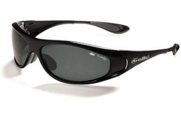 Bolle Snakes Spiral Sunglasses 10425 Shiny Black Frame Polarized TNS Lens