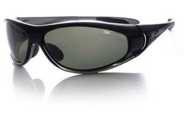 Bolle Snakes Spiral Sunglasses 10421 D Smoke Frame Polarized Axis Lens