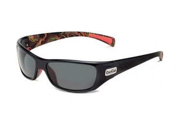 Bolle Bolle Copperhead Sunglasses, Shiny Black/Coral 11683
