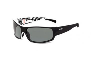 Bolle Bolle Piranha Jr.  Sunglasses, Shiny Black/White 11713