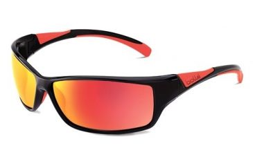 Bolle Bolle Speed Sunglasses, Shiny Black/Red 11628